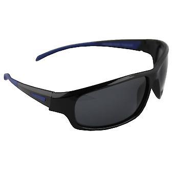 Sonnenbrille Sport Rechteck polarisierendes Glas schwarz blau FREE BrillenkokerS329_2