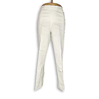 Isaac Mizrahi Live! Women's Pants 24/7 White A311453