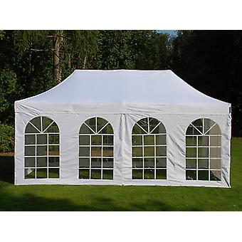 Vouwtent/Easy up tent FleXtents Easy up pavillon Basic v.3, 3x6m Wit, inkl. 4 Zijwanden