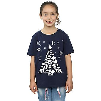 Star Wars Girls Christmas Tree T-Shirt