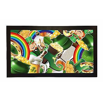 Printed Bar Runner Irish Leprechaun Rubber Bar Mat Mens Gift Idea