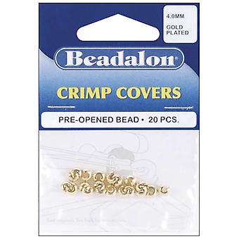 Crimp Covers 4Mm 20 Pkg Gold Plated 349A 010