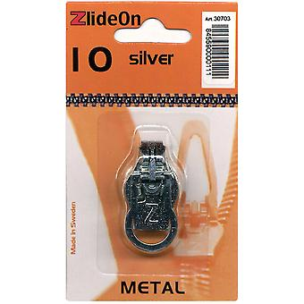 Zlideon Zipper Pull Replacements Metal 10 Silver 3070 3