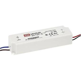 LED transformer Constant voltage Mean Well LPV-35-5 25 W (max)