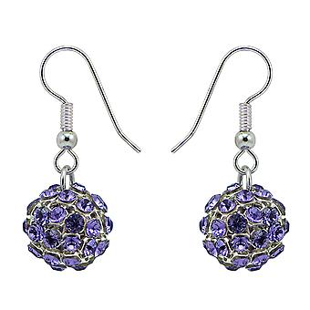 Tanzanite Crystal Mesh Ball Earrings EMB112.5