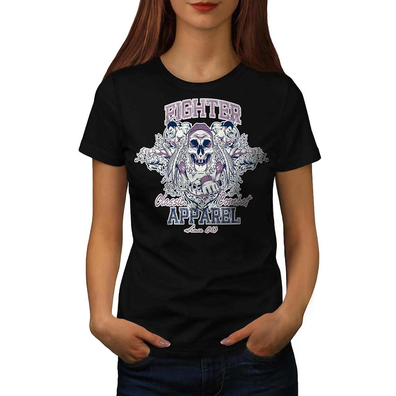 Fighter Classic Team Dead Combat Women Black T-shirt | Wellcoda