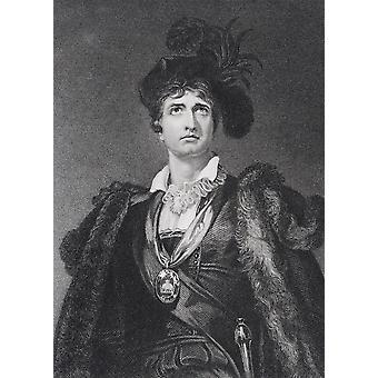 Acteur anglais John Philip Kemble 1757 à 1823, gravée par Adcock G après Sir Thomas Lawrence PosterPrint