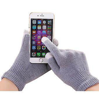ONX3 Vodafone Smart Prime 7 Universal Unisex One Size Winter Touchscreen Gloves For All Smartphones / Tablets (Grey)