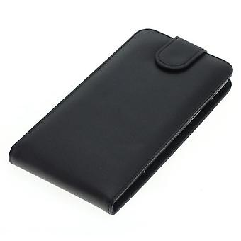 OTB Pocket cell phone case for mobile CoolPad Torino leather Flipcase black new