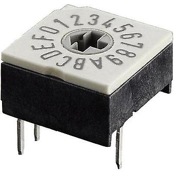 Coded rotary switch Hexadecimal 0-9/A-F Switch postions 16 Hartmann P60A 703 1 pc(s)