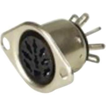 DIN connector Sleeve socket, straight pins Number of pins: 6 Silver Hirschmann MAB 6 1 pc(s)