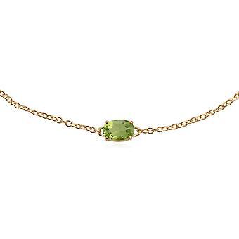 Gemondo 9ct Yellow Gold 0.51ct Peridot 19cm Bracelet