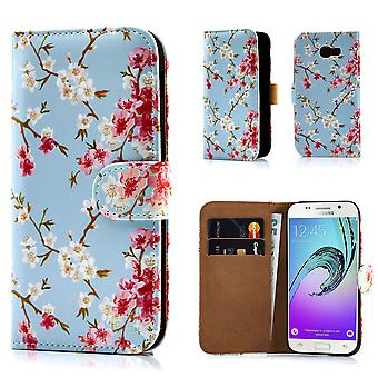 32nd Floral Design Book for Samsung Galaxy A3 (2017) - Spring Blue