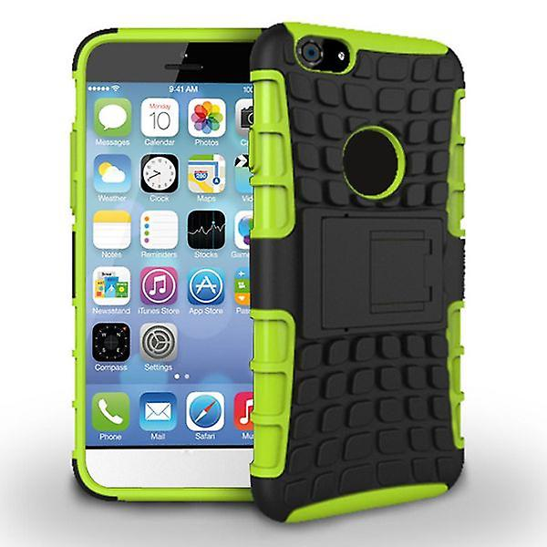 Hybrid case 2 piece robot green for Apple iPhone 6 plus 5.5