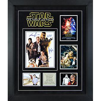 Star Wars - The Force Awakens Signed by Cast Movie photos in Framed Case