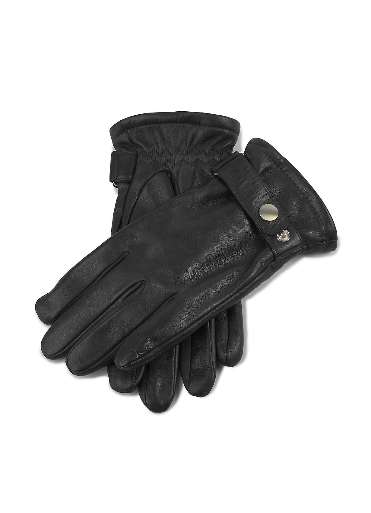 Martin Mens Leather Gloves in Black