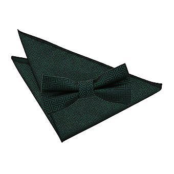 Mørk grøn græske centrale Butterfly & lomme firkantet sæt