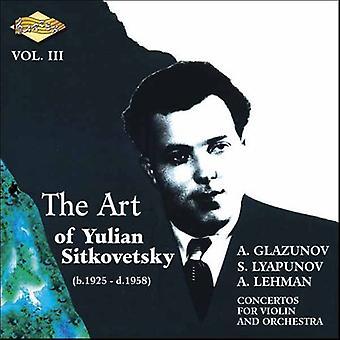 Yulian Sitkovetsky - The Art af Yulian Sitkovetsky, Vol. 3 [CD] USA importerer
