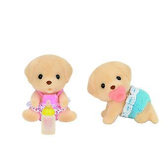 Toys - Sylvanian Families - Yellow Labrador Twins - Epoch