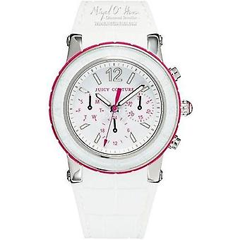 Juicy Couture SAR dragón blanco fruta cronógrafo reloj 1900896