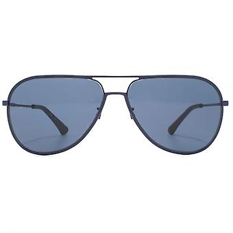 Police Highway Two Aviator Sunglasses In Matte Blue