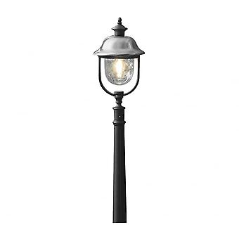 Konstsmide Parma Black Pathway Lantern With Stainless Steel Cap