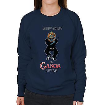Zelda hålla lugn och Ganon stil kvinnors tröja