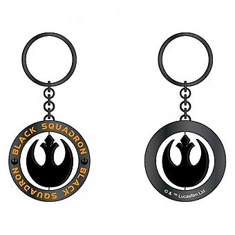 Star Wars Star Wars Rouge One Black Squadron Black/Gunmetal Spinner Keyring