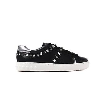 Ash Women's Play Stud Leather Trainers - Black