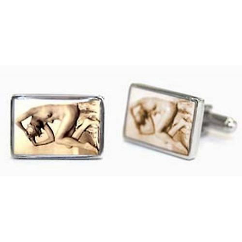 Tyler and Tyler Fifi Victorian Tease Cufflinks - Brown