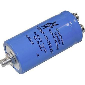 Electrolytic capacitor Screw-type 10000 µF 63 V