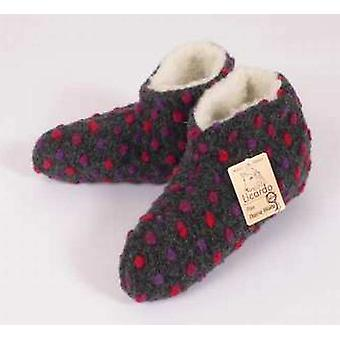 Bed shoes wool dots anthracite 36/37