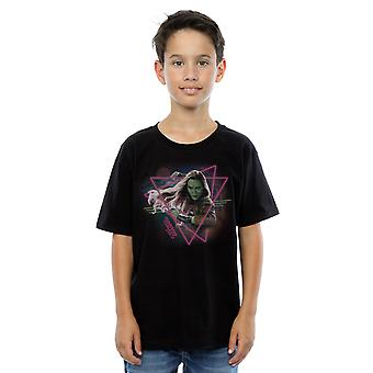 Marvel Boys Guardians Of The Galaxy Neon Gamora T-Shirt