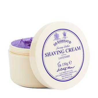 DR Harris Lavender Luxury Lather Shaving Cream Bowl 150g