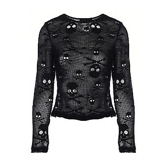 Houding schedels Mesh gotische Top kleding