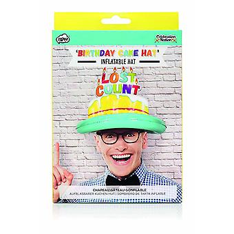 Novelty Adult Lost Count Birthday Cake Inflatable Hat Birthday Gift/ Accessory