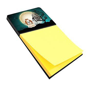 Halloween Scary Shih Tzu Red White Sticky Note Holder