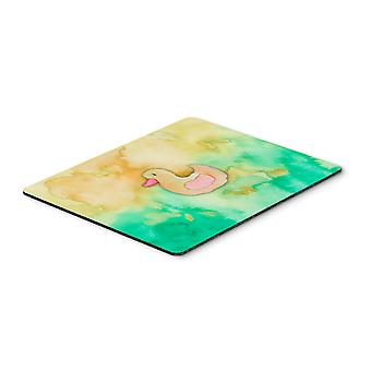Rubber Duckie Watercolor Mouse Pad, Hot Pad or Trivet