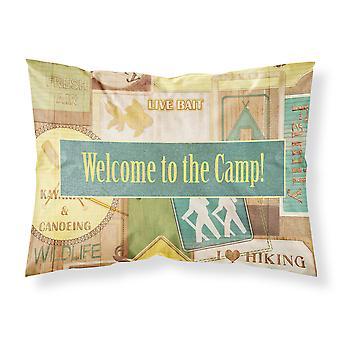 Bienvenido al campamento humedad wicking tela estándar funda de almohada