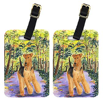 Carolines Treasures  SS8208BT Pair of 2 Airedale Luggage Tags