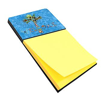 Carolines Treasures  8708SN Welcome Palm Tree on Blue Sticky Note Holder