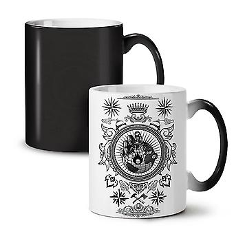 World King Hand Fashion NEW Black Colour Changing Tea Coffee Ceramic Mug 11 oz | Wellcoda