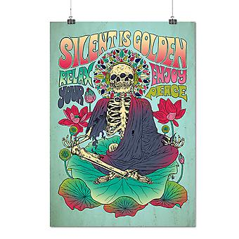 Matte or Glossy Poster with Silent Dead Peace Funny | Wellcoda | *d2777
