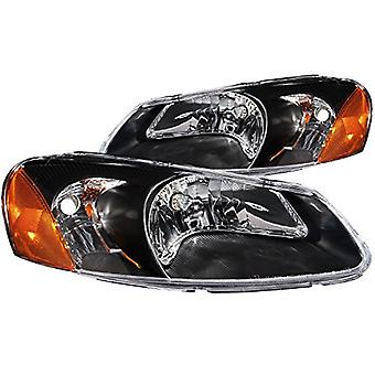 Anzo USA 121026 Chrysler Sebring Crystal Black Headlight Assembly - (Sold in Pairs)