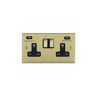 ハミルトン Litestat ハートランド磨き真鍮 SP SS2 + USBx2 PB/BL