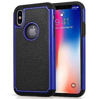 Caseflex iPhone X Mesh комбо - синий
