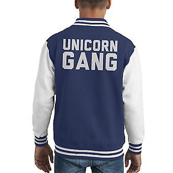 Unicorn Gang Text Kid's Varsity Jacket