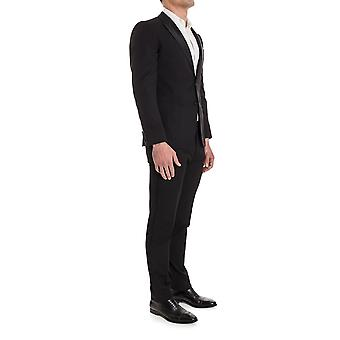 Giorgio Armani men's VCVMOPVC239999 Black wool suit