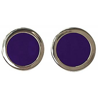 Tyler and Tyler Two Tone Bold Cufflinks - Purple/Gold