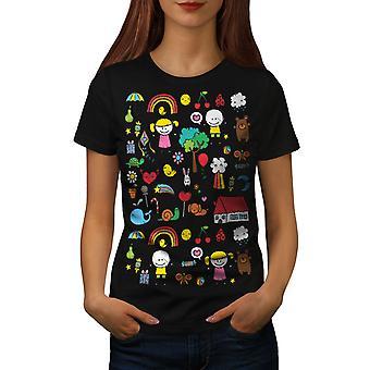 BlackT-camicia carina colorato donna | Wellcoda
